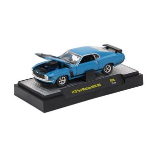 M2 Machines M2 Machines 1970 Ford Mustang Boss 302 Blue Detroit Muscle Series Release 38 1:64 Scale Diecast Model Car