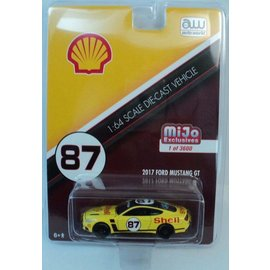 Auto World Auto World 2017 Ford Mustang GT Shell Oil MiJo Exclusive 1:64 Scale Diecast Model Car