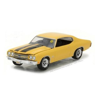 Greenlight Collectibles Greenlight 1970 Chevrolet COPO Chevelle SS Yellow Mecum Auctions Series 1:64 Scale Diecast Model Car