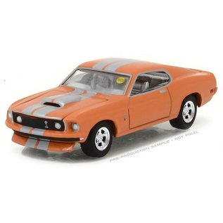 Greenlight Collectibles Greenlight 1969 Ford Mustang Orange Mecum Auctions Series 1:64 Scale Diecast Model Car