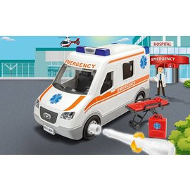 Revell-Monogram RMX Revell Junior Kit Build It Yourself Ambulance Plastic Model Kit
