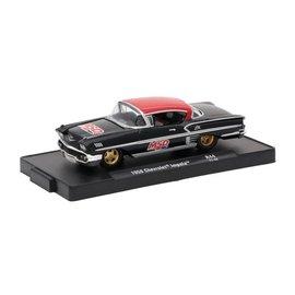 M2 Machines M2 Machines 1958 Chevrolet Impala Black MSD Auto Drivers Series Release 44 1:64 Scale Diecast Model Car