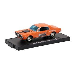 M2 Machines M2 Machines 1968 Mercury Cougar R-Code Orange RHS Auto Drivers Series Release 44 1:64 Scale Diecast Model Car