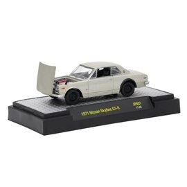 M2 Machines M2 Machines 1971 Nissan Skyline GT-R Silver Auto Japan Series Release 1 1:64 Scale Diecast Model Car
