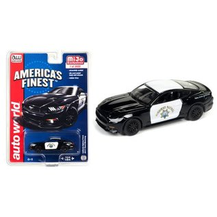 Auto World Auto World 2017 Ford Mustang CHP Police America's Finest MiJo Exclusive 1:64 Scale Diecast Model Car