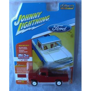 Johnny Lightning Johnny Lightning 1959 Ford F-250 Red 2017 Series Version A MiJo Exclusive 1:64 Scale Diecast Model Car