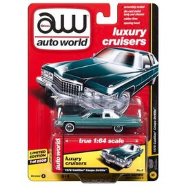 Auto World Auto World 1976 Cadillac Coupe DeVille Teal Luxury Cruisers 2017 Release 3 Version A 1:64 Scale Diecast Model Car