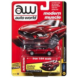 Auto World Auto World 2017 Ford Mustang GT Red Modern Muscle 2017 Release 3 Version A 1:64 Scale Diecast Model Car