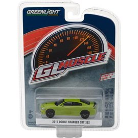Greenlight Collectibles Greenlight 2017 Dodge Charger SRT 392 Green GL Muscle Series 19 1:64 Scale Diecast Model Car