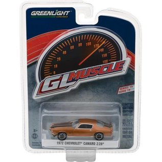 Greenlight Collectibles Greenlight 1972 Chevrolet Camaro Z/28 Copper GL Muscle Series 19 1:64 Scale Diecast Model Car