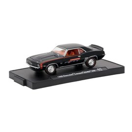 M2 Machines M2 Machines 1969 Chevrolet Camaro SS/RS 396 Black Camaro Fifty Auto Drivers Series Release 45 1:64 Scale Diecast Model Car