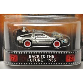 Hot Wheels Hot Wheels Back To The Future 1955 Delorean Retro Entertainment 1:64 Scale Diecast Model Car