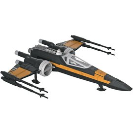 Revell-Monogram RMX Revell Star Wars Build & Play Snap-Tite Model Kit Poe's Boosted X-Wing Fighter Plastic Model Kit