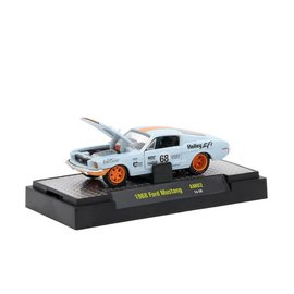 M2 Machines M2 Machine 1968 Ford Mustang Gulf Paint Scheme Auto Mods Release 2 1:64 Scale Diecast Model Car