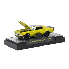 M2 Machines M2 Machines 1971 Chevrolet Camaro SS 396 Yellow Auto Mods Series 6 1:64 Scale Diecast Model Car