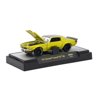 M2 Machines M2 Machines 1971 Chevrolet Camaro SS 396 Yellow Auto Mods Series 6 1:64 Scale Diecast Model Car