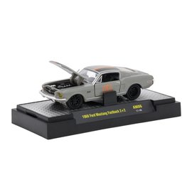 M2 Machines M2 Machines 1968 Ford Mustang Fastback 2+2 Gray Auto Mods Series 6 1:64 Scale Diecast Model Car