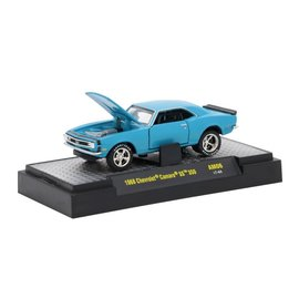 M2 Machines M2 Machines 1968 Chevrolet Camaro SS 350 Blue Auto Mods Series 6 1:64 Scale Diecast Model Car