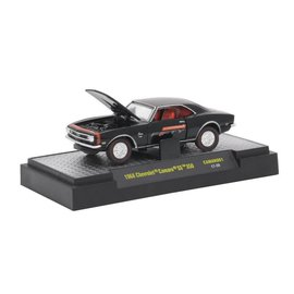M2 Machines M2 Machines 1968 Chevrolet Camaro SS 350 Black Camaro Fifty Series 1 1:64 Scale Diecast Model Car