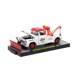M2 Machines M2 Machines 1958 Chevrolet Apache Tow Truck Red/White Auto Trucks Series 44 1:64 Scale Diecast Model Car