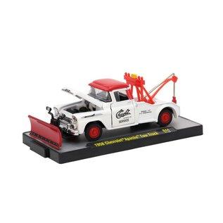 M2 Machines M2 Machines 1958 Chevrolet Apache Tow Truck Red/White Auto Trucks Series 44 1:64 Scale Diecast Model Car