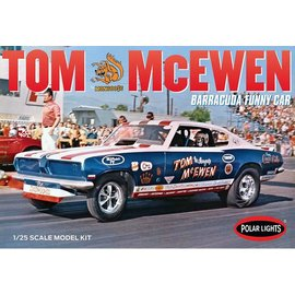 Polar Lights Tom Mongoose McEwen Barrucuda Funny Car 1:25 Scale Plastic Model Kit