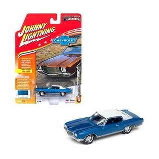 Johnny Lightning Johnny Lightning 1971 Chevy Monte Carlo SS Blue 2017 Series Version B Hobby Exclusive 1:64 Scale Diecast Model Car