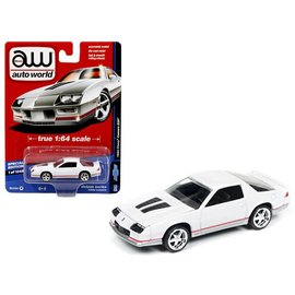 Johnny Lightning Auto World 1984 Chevy Camaro Z28 White Hobby Exclusive Deluxe Series Version A 1:64 Scale Diecast Model Car