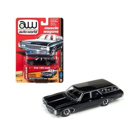 Auto World Auto World 1969 Chevy Kingswood Estate Wagon Black Hobby Exclusive Premium Series Version B 1:64 Scale Diecast Model Car