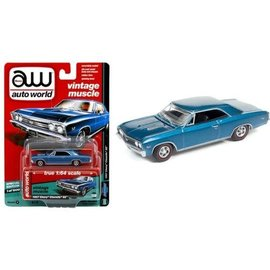 Auto World Auto World 1967 Chevy Chevelle SS Blue Hobby Exclusive Premium Series Version A 1:64 Scale Diecast Model Car