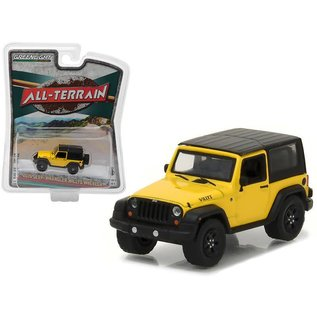 Greenlight Collectibles Greenlight 2015 Jeep Wrangler Willys Wheeler Yellow All Terrain Series Release 5 1:64 Scale Diecast Model Car