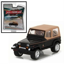 Greenlight Collectibles Greenlight 1994 Jeep Wrangler Sahara Black all Terrain Series Release 5 1:64 Scale Diecast Model Car