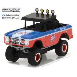 Greenlight Collectibles Greenlight 1975 Ford Bronco Baja Red All Terrain Series Release 5 1:64 Scale Diecast Model Car
