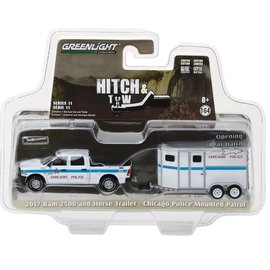 Greenlight Collectibles Greenlight 2017 RAM 2500 and Horse Trailer Chicago Police Mounted Patrol Hitch & Tow Series Release 11 1:64 Scale Diecast Model Car