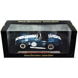 Carroll Shelby Collectibles Shelby Collectibles Shelby Cobra 427 S/C Legend Series Blue White Stripes 1:18 Scale Diecast Model Car