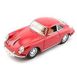 Bburago Bburago 1961 Porsche 356B Coupe Red 1:18 Scale Diecast Model Car