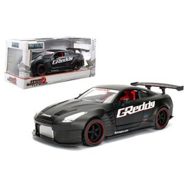 Jada Toys Jada Toys 2009 Nissan GT-R (R35) Ben Sopra Primer Black JDM Tuners 1:24 Scale Diecast Model Car