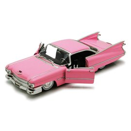 Jada Toys Jada Toys 1959 Cadillac Coupe DeVille Pink Big Time Muscle 1:24 Scale Diecast Model Car