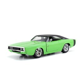Jada Toys Jada Toys 1970 Dodge Charger R/T Green Big Time Muscle 1:24 Scale Diecast Model Car