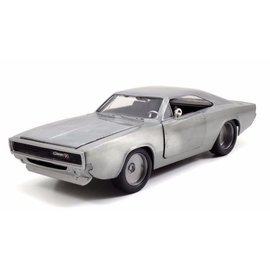 Jada Toys Jada Toys Dom's Dodge Charger R/T Raw Metal Fast & Furious 1:24 Scale Diecast Model Car