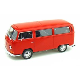 Welly Die Casting Welly 1972 Volkswagen Bus T2 Red 1:24 Scale Diecast Model Car
