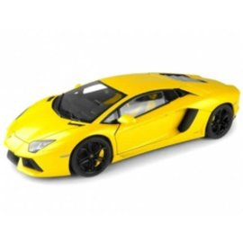 Welly Die Casting Welly Lamborghini Aventador LP700-4 Yellow 1:24 Scale Diecast Model Car