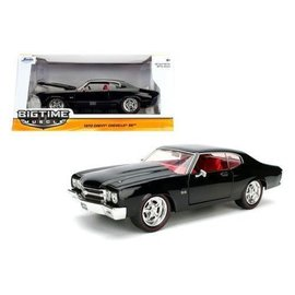 Jada Toys Jada Toys 1970 Chevy Chevelle SS Black Big Time Muscle 1:24 Scale Diecast Model Car