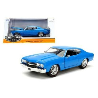 Jada Toys Jada Toys 1970 Chevy Chevelle SS Blue Big Time Muscle 1:24 Scale Diecast Model Car