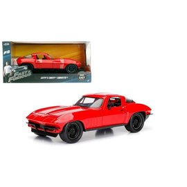 Jada Toys Jada Toys Letty's Chevy Corvette Red Fast & Furious 1:24 Scale Diecast Model car