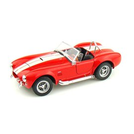 Welly Die Casting 1965 Shelby Cobra 427 SC in Red Welly 1:24 Scale Diecast Model Car