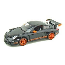 Welly Die Casting Porsche 911 997 GT3 RS in Black Welly 1:24 Scale Diecast Model Car