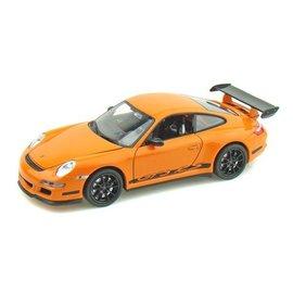 Welly Die Casting Porsche 911 (997) GT3 RS Orange Welly 1:24 Diecast Car