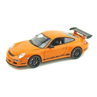 Welly Die Casting Porsche 911 (997) GT3 RS Orange Welly 1:24 Diecast Car