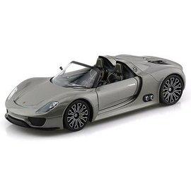 Welly Die Casting Porsche 918 Spyder Grey Welly 1:24 Diecast Model Car